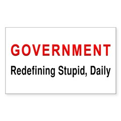 Stupid Government Rectangle Decal