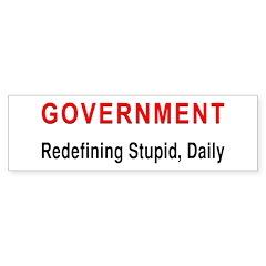 Stupid Government Bumper Bumper Sticker