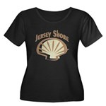 Jersey Shore Women's Plus Size Scoop Neck Dark T-S
