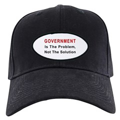 Government is the problem Baseball Hat