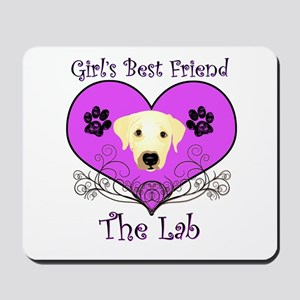 Girl's BFF Lab Mousepad
