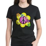 Peace Blossoms /pink Women's Dark T-Shirt