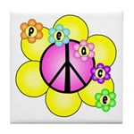 Peace Blossoms /pink Tile Coaster