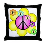 Peace Blossoms /pink Throw Pillow