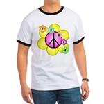 Peace Blossoms /pink Ringer T