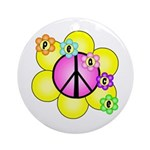 Peace Blossoms /pink Ornament (Round)