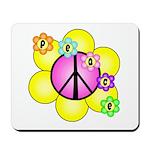 Peace Blossoms /pink Mousepad