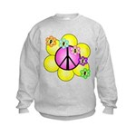 Peace Blossoms /pink Kids Sweatshirt