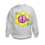 Peace Blossoms /pink Kids Sweatshirt