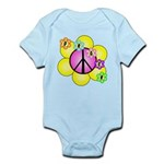 Peace Blossoms /pink Infant Bodysuit