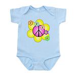 Peace Blossoms /pink Infant Bodysuit