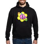 Peace Blossoms /pink Hoodie (dark)