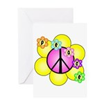 Peace Blossoms /pink Greeting Card