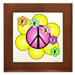 Peace Blossoms /pink Framed Tile