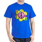 Peace Blossoms /pink Dark T-Shirt