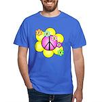 Peace Blossoms /pink Dark T-Shirt