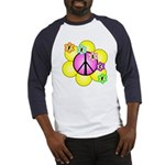 Peace Blossoms /pink Baseball Jersey