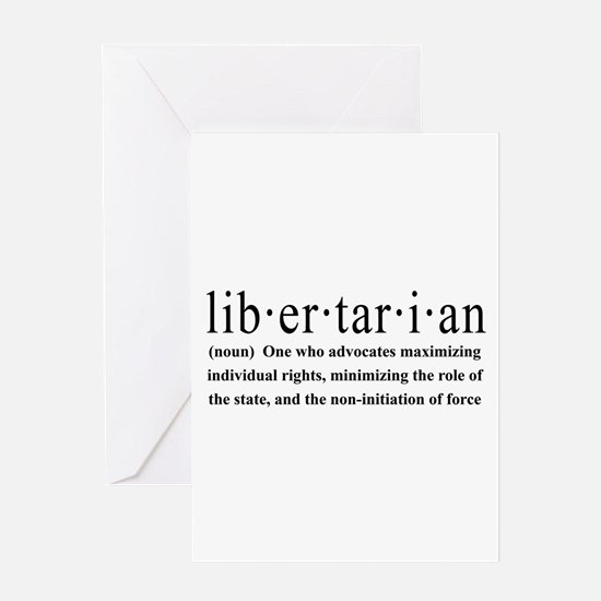Libertarian Definition Greeting Card