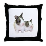 Dutch Bunny Babies Throw Pillow