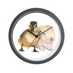 Bunny and Duck Wall Clock
