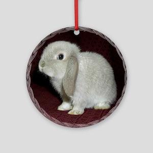 Lop Bunny Ornament (Round)