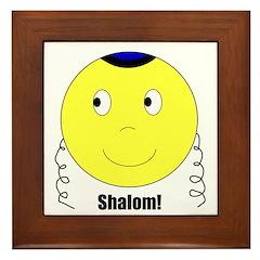 Jewish Rabbi Smiley Face Framed Tile