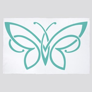 Celtic Knot Butterfly in Seafoam 4' x 6' Rug
