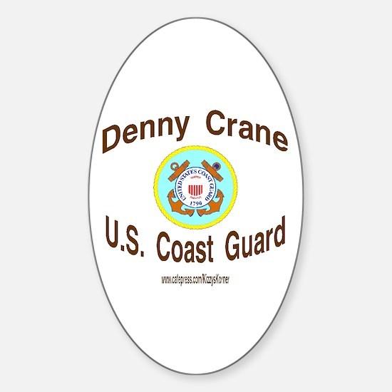 DENNY COAST GUARD Oval Bumper Stickers