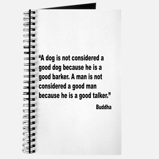 Buddha Good Talker Quote Journal
