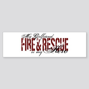 Girlfriend My Hero - Fire & Rescue Sticker (Bumper