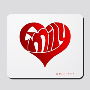 Emily (Red Heart) Mousepad