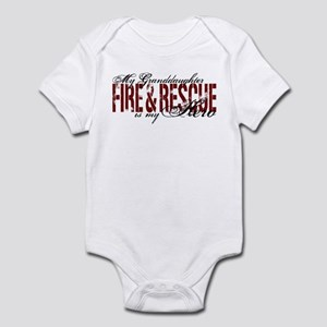 Granddaughter My Hero - Fire & Rescue Infant Bodys