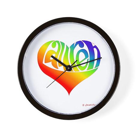Lauren (Rainbow Heart) Wall Clock