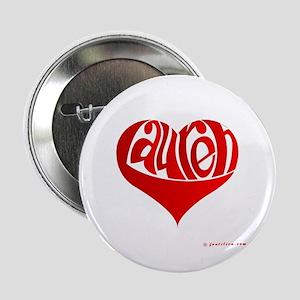 """Lauren (Red Heart) 2.25"""" Button"""