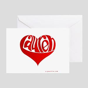 Lauren (Red Heart) Greeting Card
