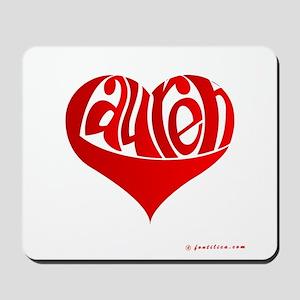 Lauren (Red Heart) Mousepad