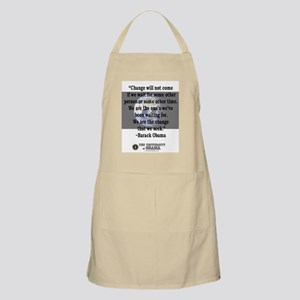 """Change will not come..."" Bar BBQ Apron"