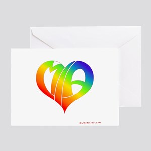 MIa (Rainbow Heart) Greeting Card