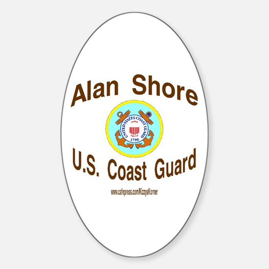 ALAN COAST GUARD Oval Bumper Stickers