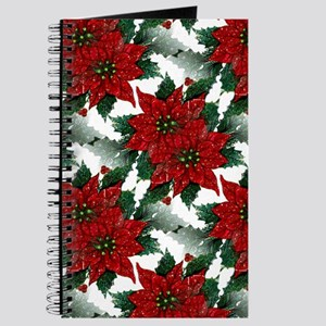 Sparkling Red Poinsettias Journal