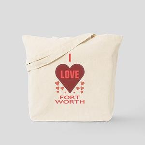 I Love Fort Worth TX Book Bag (Printed Both Sides)