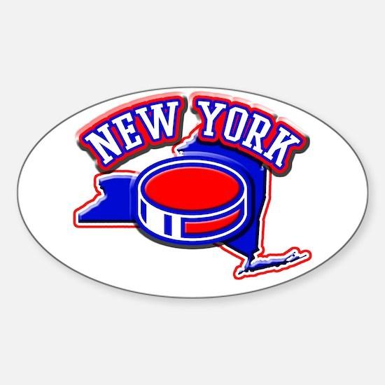 New York Hockey Oval Decal