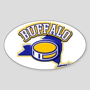 Buffalo Hockey Oval Sticker
