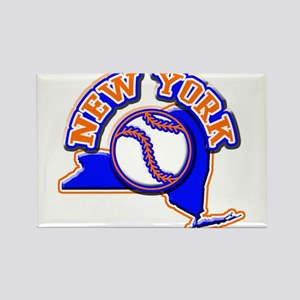 New York Baseball Rectangle Magnet
