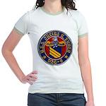 USS JULIUS A. FURER Jr. Ringer T-Shirt
