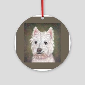 Westie (head study) Ornament (Round)