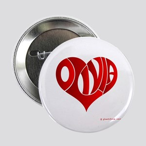 """Olivia (Red Heart) 2.25"""" Button"""