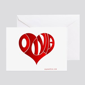 Olivia (Red Heart) Greeting Card