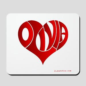Olivia (Red Heart) Mousepad
