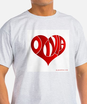 Olivia (Red Heart) T-Shirt